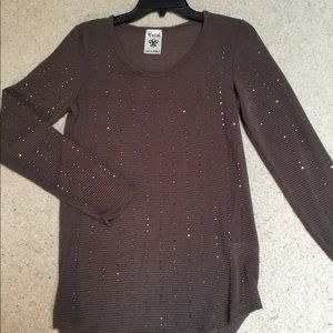 Tops - Gorgeous Brown Sparkle Long Sleeve Top-Never Worn!
